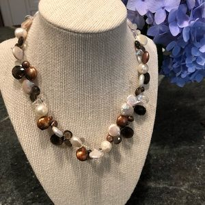 Pearl and stone necklace
